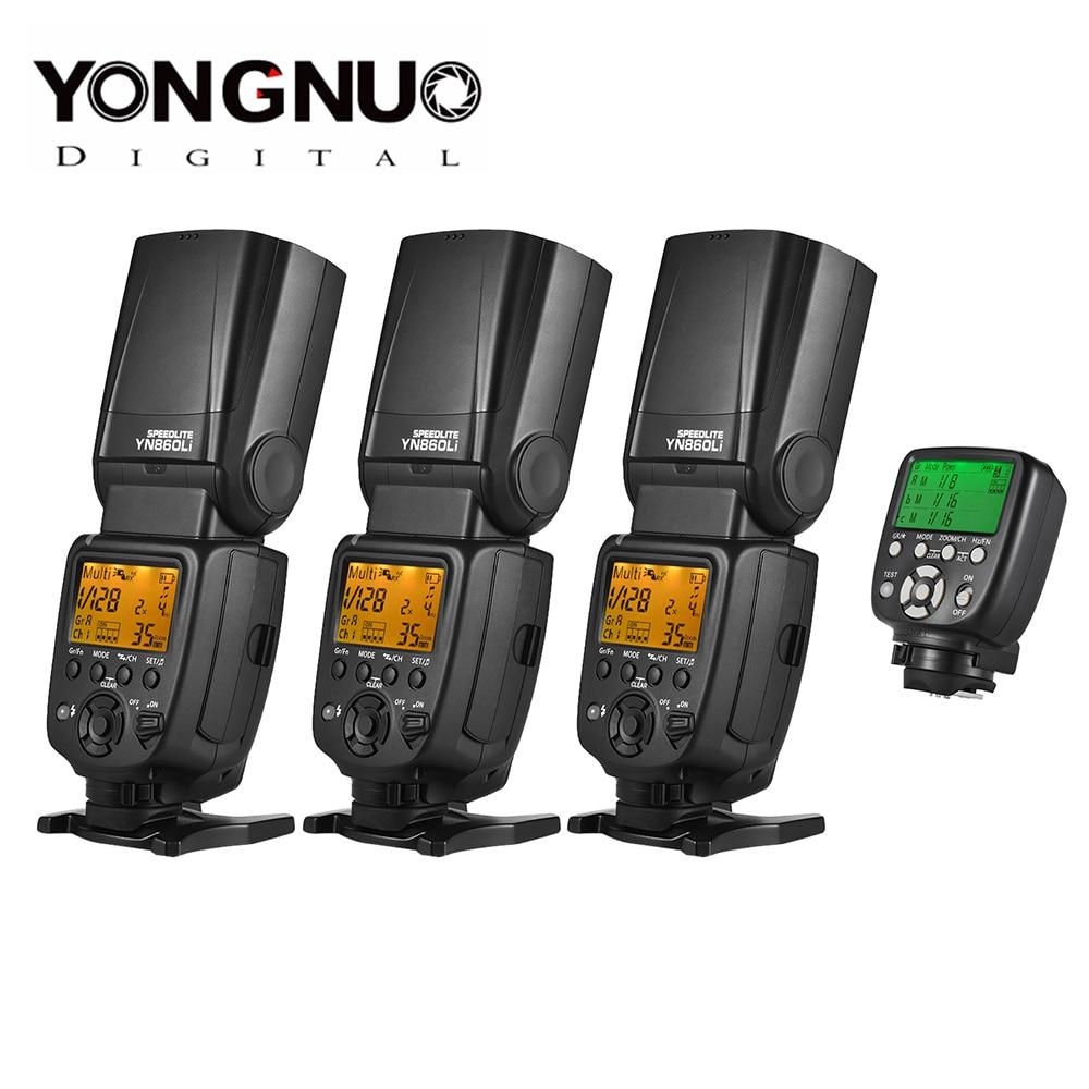 YONGNUO YN860Li sans fil maître esclave Flash Speedlite + YN560 TX II télécommande de déclenchement Flash manuel pour Canon Nikon nouveau-in Clignote from Electronique    1