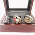 Facyory Direct Sale 3 PCS 2004 2007 2013 Boston Red sox Championship Replica Rings With Wooden Box