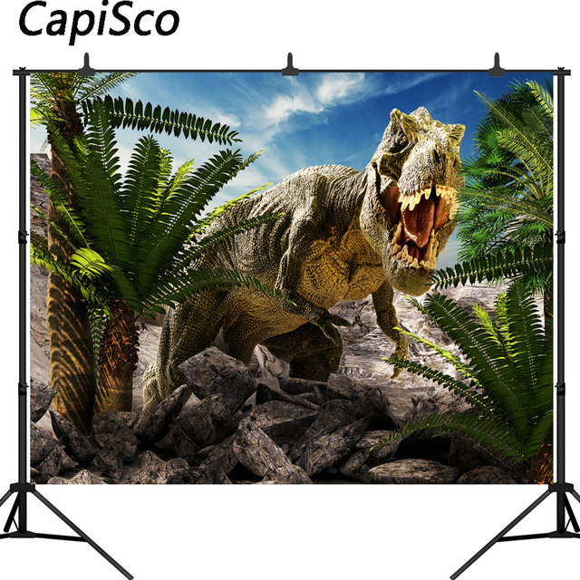 Capisco Vinyl photography background Jurassic 3D dinosaur park backdrop photo studio children birthday party photocall