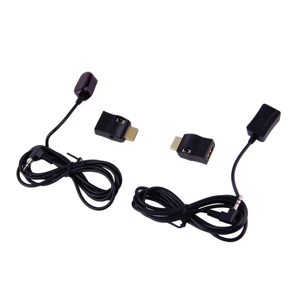 New IR Extender Over HDMI Remote Control Adapters Receiver Transmitter Cable Kit Wholesale 80 channels hdmi to dvb t modulator hdmi extender over coaxial