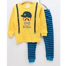Fashion Baby Boy Clothes Belt Children Pajamas Cotton Kids Home Clothes Sleepwear Boy PJ'S Stripe Pant Long Nightdress Wholesale