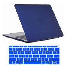 "MacBook Air 13 인치 케이스 2018 출시 A1932, 터치 id가있는 새로운 Mac Book Air 13 ""용 소프트 터치 경량 하드 쉘 커버"