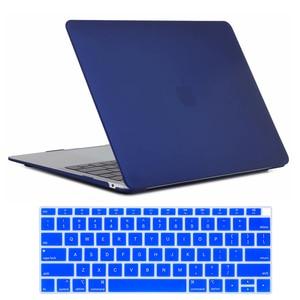 Image 1 - Чехол для MacBook Air 13 дюймов 2018 выпуска A1932, мягкий на ощупь легкий жесткий чехол для новой MacBook Air 13 дюймов с Touch ID