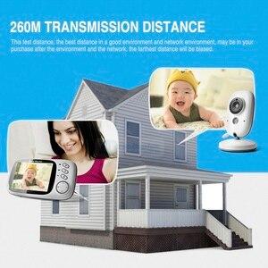 Image 2 - 3,2 pulgadas 2,4 GHz Monitor de vídeo inalámbrico Color bebé de alta resolución niñera cámara de seguridad visión nocturna monitoreo de temperatura