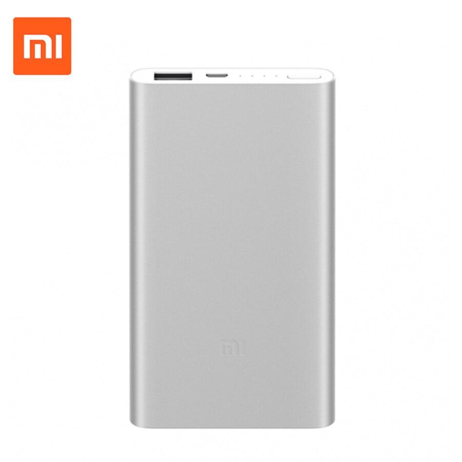 Original Xiaomi Mi 5000mAh Power Bank 2 Portable Charger Slim 5000mAh Power Bank External Battery Pack for iPhone Samsung Huawei justone 4800mah li polymer battery power bank for iphone samsung xiaomi white silver