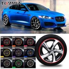 8M Car Wheel Hub Rim Edge Protector Ring Tire Strip Guard Rubber Decals For Jaguar XF
