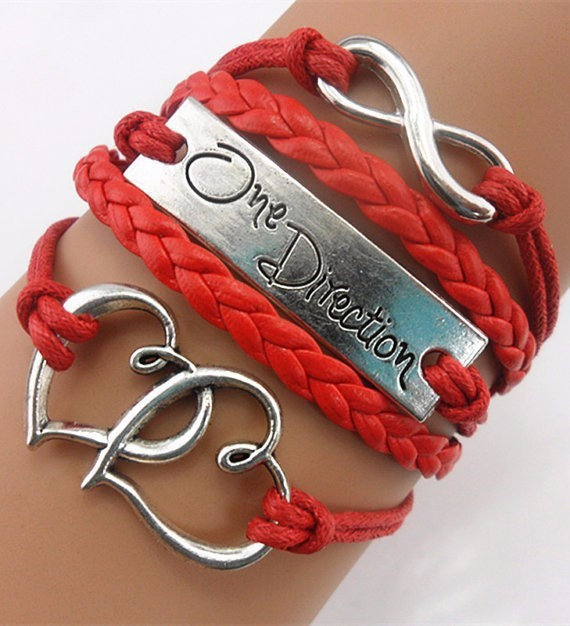 2020 Multilayer Braided Bracelets , double heart metal infinity bracelet, Multicolor woven leather bracelet & Bangle