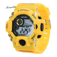 Ladies Males's Quartz Digital Sports activities Watches LED Navy Silicone Waterproof Youngsters Wristwatche Wholesale