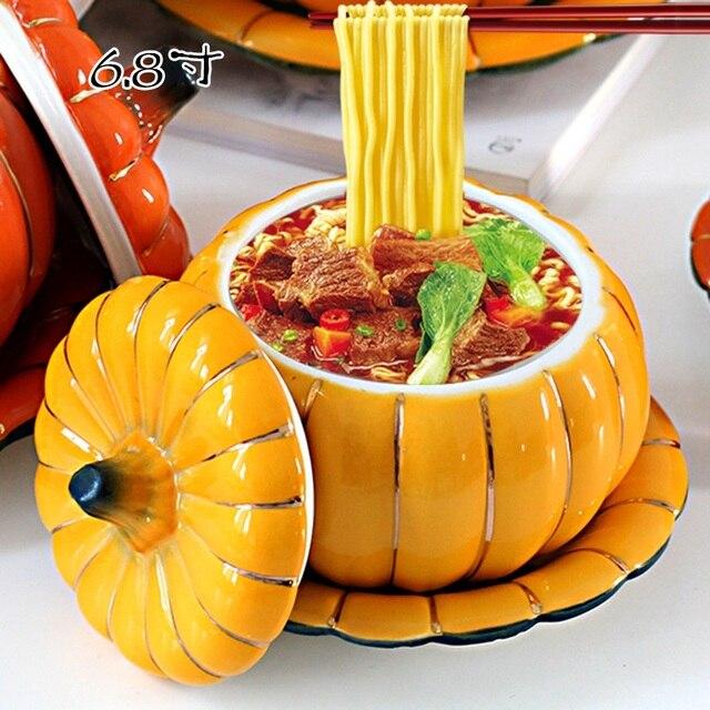 Zucchero ciotole di Ceramica dolci zucca ciotole di acqua tazze di zuppa di ciotole in umido degli studenti spaghetti istantanei ciotole hotel di natale Shop922257 Store
