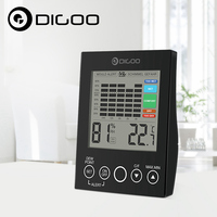 Digoo DG TH2048 Home Comfort Indoor LED DEW Point Temperature Humidity Mould Alert Gefahr Detector For