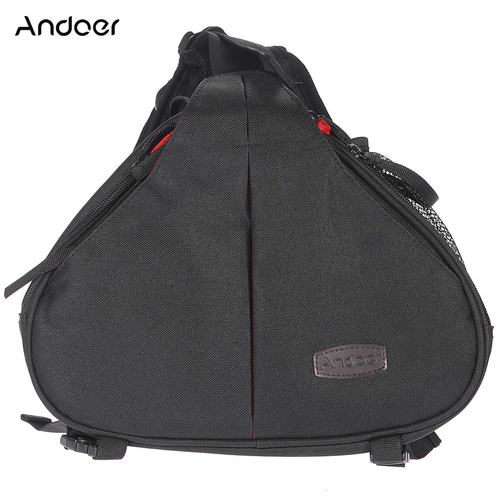 Andoer Mini Fashion Casual Water Resistant Camera Bag Case Messenger Shoulder Bag wWaterproof Cover for Canon Nikon Sony DSLR
