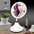 Ajustable profesional Encimera Giratoria Pantalla Táctil LED Maquillaje Espejo de Aumento ABS pilas AA