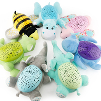 Hot Sales Magic Animal Musical Projector Sleeping Baby Toy Early education Music lights Creative gift Baby Musical Bed Bell toy