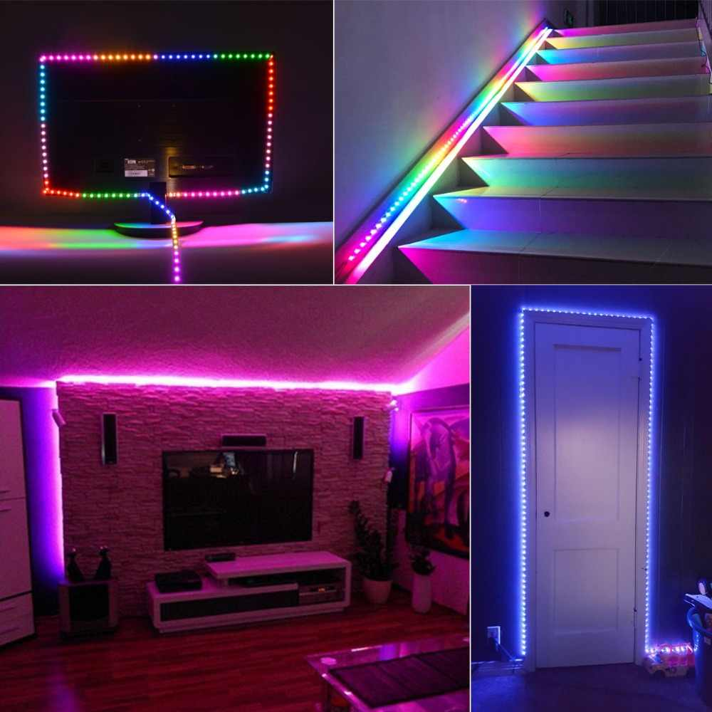Dream Color Rgb Light Smart Pixel Strip Led For Kitchen Stairs Ws2811 Ic Programmable Addressable Neon Lights Cabinet