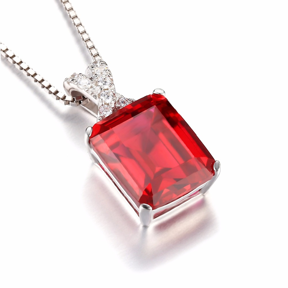 Jewelrypalace emerald cut 6ct created red ruby pendant solid 925 jewelrypalace emerald cut 6ct created red ruby pendant solid 925 sterling silver fine jewelry for women gift not include a chain in pendants from jewelry aloadofball Choice Image