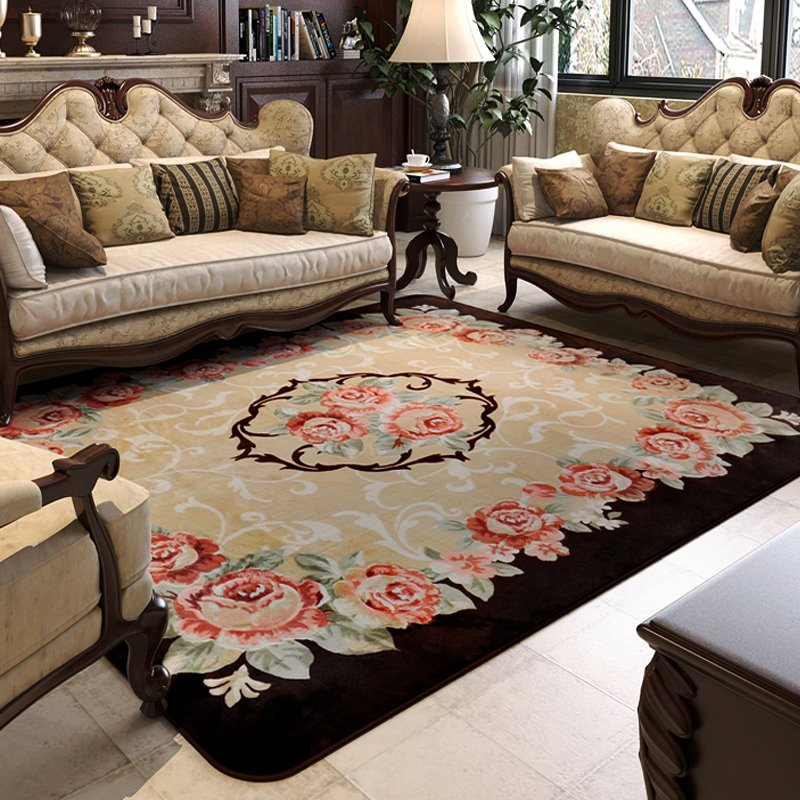 150X200CM Pastoral Big Carpets For Living Room Carved Coffee Table Rugs And Home Bedroom Area