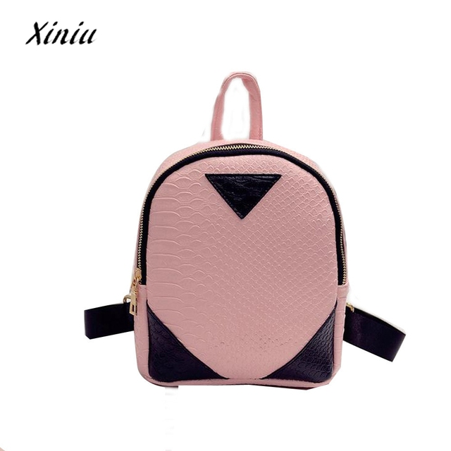 1bd788a3b6 XINIU Mini backpack Women mochila feminina Canvas Rucksack concise  Serpentine Backpack School Book Shoulder Bag dropshipping