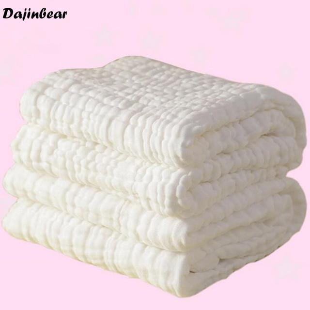 Toalla de baño del bebé 100% algodón ultra suave bebé toalla gasa toalla recién nacido grande gruesa capa 6 Tamaño 90*110 CM