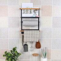 Kitchen rack refrigerator frame magnet refrigerator rack storage rack refrigerator side hanging wallpaper towel rackXI223919