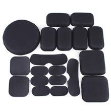19Pcs/Set Tactical Hunting Helmet Protective Pad EVA Paintball Airsoft Hunting Shooting Sports Helmet Accessories Liners Pads army military tactical helmet full covered casco airsoft helmet accessories paintball shooting hunting protective helmet
