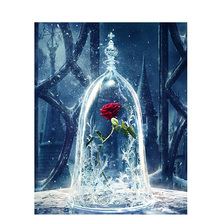 Artsailing Pictures By Numbers On Canvas Beauty Beast Rose Painting Acrylic Paints Posters Frame Np 487 With Free Shipping Worldwide Weposters Com