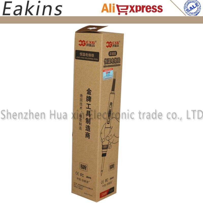 Image 5 - CXG E60W E90W E110W Digital LCD Adjustable NC thermostat Electric soldering iron handle Welding repair +10 pcs 900M tips900m tipthermostatic electric solderingsolder iron handle - AliExpress