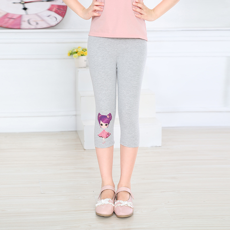 2018 New Arrival Hot Summer Kids Calf Length Fashion girls leggings print catton girls pants childrens trousers
