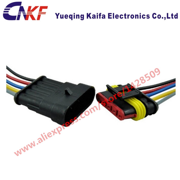 us $2 49 1 set amp 1 5 series 5 way superseal electrical waterproof connector with automobile wire harness female male 282089 1 282107 1 in Dodge Wiring Harness