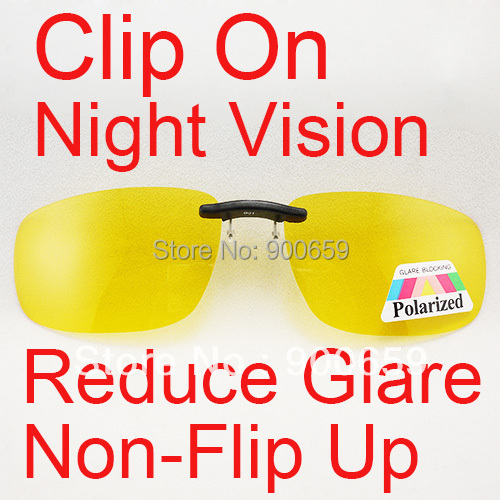 1e187a1bb2 Yellow Lenses Polarized Non Flip Up Clip On Safety Night Driving Glasses  oculos gafas B01 Reduce Glare Bigger Size NEW-in Sunglasses from Apparel ...
