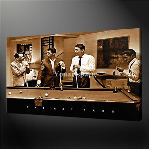 Us 3999 Wall Art Painting Pictures Print On Canvas Rat Pack Pool Game Sepia Retro Pop Art The Picture For Home Modern Decoration Oil In Painting