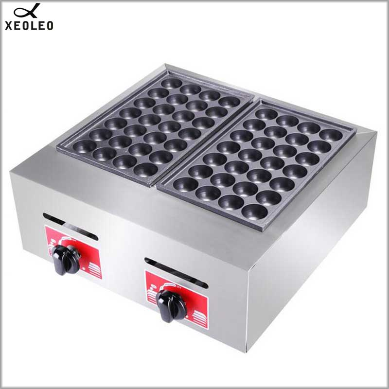XEOLEO Double plates Gas Fish ball machine LPG Takoyaki ball Grill machine Commercial Octopus ball furnace