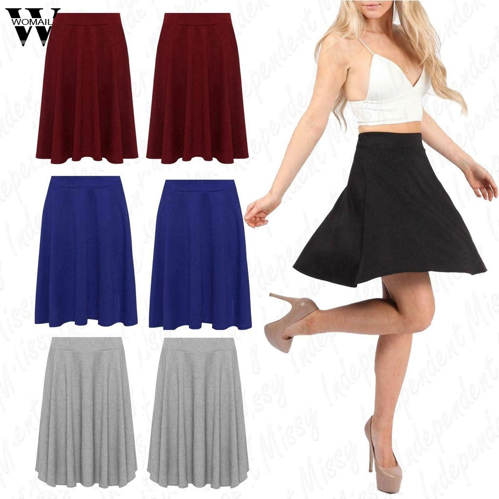 Womail Skirt  Skirts Summer Ladies Fashion Women Summer Solid Pleated Skirts Sexy High Waist Mini Short Skirt 2020 May29