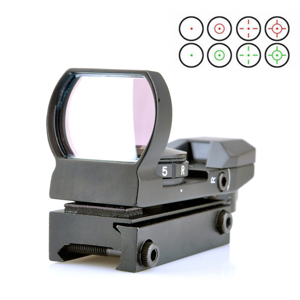 Red Green Dot Hunting Riflescope Holographic Reflex 4 Reticle Sight with 20mm Rail hunting sports riflescope optics holographic green red dot reflex sight with 4 various reticle 20mm rails mount