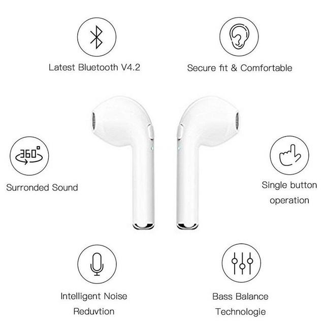 IBESI i7 Mini Bluetooth Earphone Wireless Headphone Bluetooth Headset Handsfree Earbuds with Mic for Xiaomi Samsung iphone