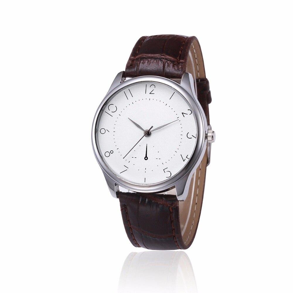 Retro Design Mens Watches Unisex Clock Women Fashion PU ...