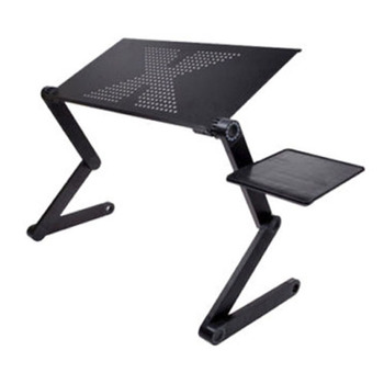 Portable Foldable Adjustable Laptop Desk Computer Table Stand Tray For Sofa Bed Black portable foldable adjustable folding table for laptop desk computer notebook stand tray for sofa bed