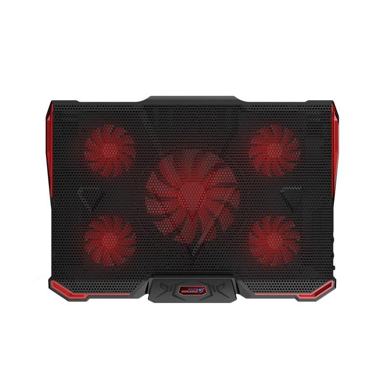 KuWfi Ordinateur Portable Ventilateurs De Refroidissement refroidisseur d'ordinateur portable Pour 17.6 pouces et Ordinateur Portable Avec 5 pièces LED Ventilateurs 2 pièces USB 2.0 support réglable