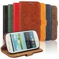 Frete grátis couro luxo wallet flip case para samsung galaxy s3 Mini i8190 SIII Mini Saco Do Telefone Casos Cubra com Suporte de Cartão