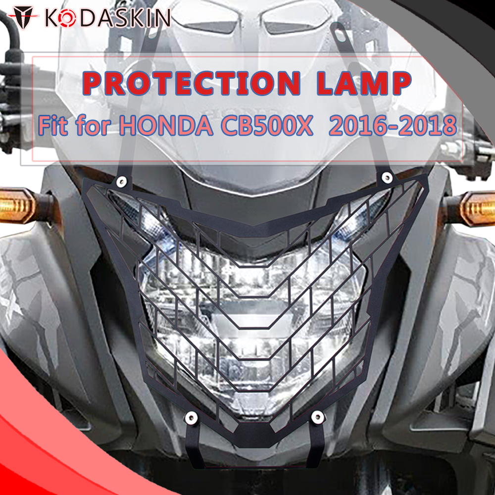 KODASKIN Headlight Protection Cover Grille Guard for <font><b>Honda</b></font> <font><b>CB500X</b></font> 2016 2017 <font><b>2018</b></font> image