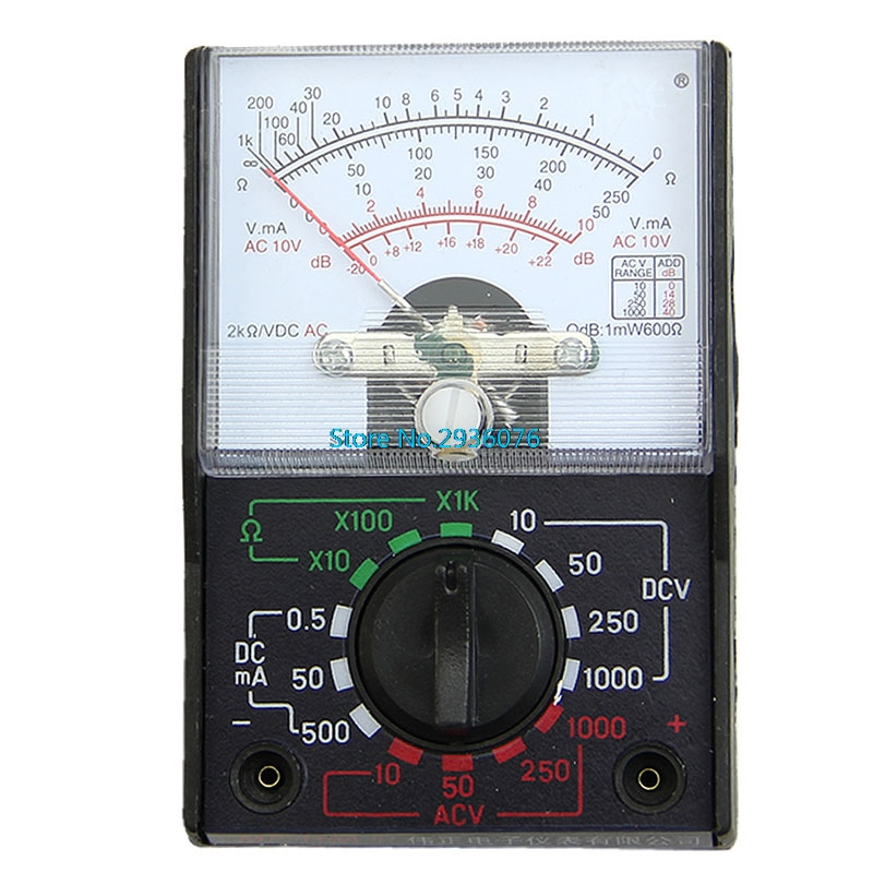 Electrical Resistance Meter : Mini electric multimeter resistance ac dc volts ohm