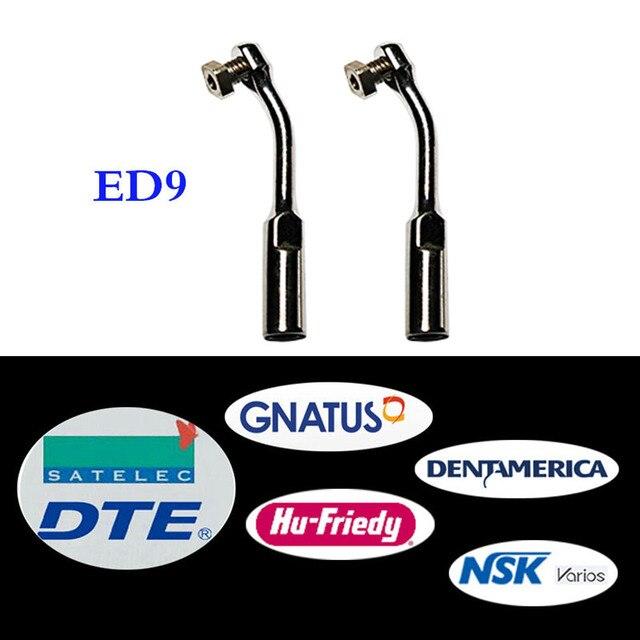 Herramienta de ortodoncia Bonart, 2 unidades/lote, Dental, escalador ultrasónico, Punta ED9, para DTE/ Satelec/ NSK/ Gnatus/