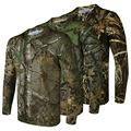 Man Hiking Tshirt Quick Dry Breathable Long Sleeve Shirt 3d Printed Jungle Mens Camouflage Hunting Stretch Shirts Plus Size