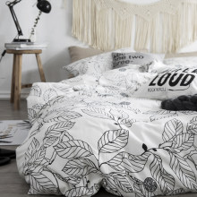 High Grade Cotton Leaf Bedding Sets King Single,2-3PCS Duvet Cover Set, 4PCS Set For Duvet cover Bed Sheet Pillowcase(China)