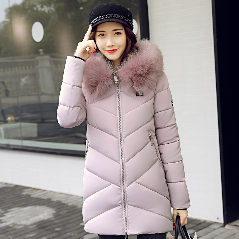2017 high quality fur collar women long winter coat female warm wadded jacket womens outerwear parka casaco feminino inverno winter 2017 thickening women parka women s fur collar coat wadded jacket female outerwear fashion cotton padded jacket long coat