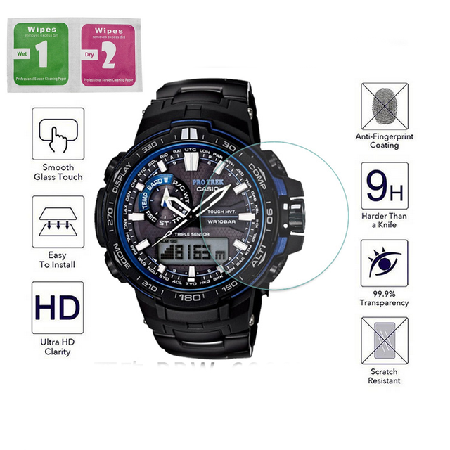 2pcs For Tempered Glass Screen Protector For Casio G-shock GA-110 ga-100  GA100 GA110 PRW-6000 YT prw 6000 6100 protective 9e2837233165