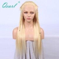 613 # блондинка 360 кружева фронтальной парик шелковистой прямо бразильский Волосы remy человеческих волос парики Детские Волосы бесплатная час