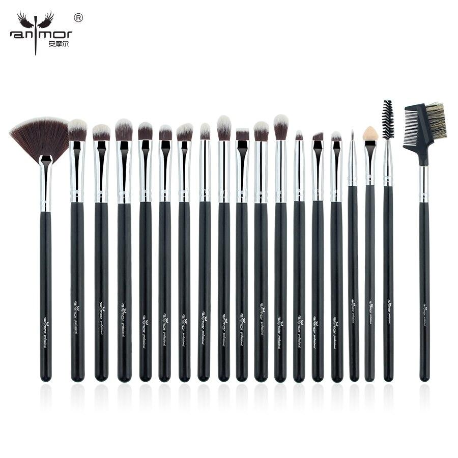 Anmor 19pcs Eyeshadow Makeup Brushes Set Pro Blending Fan Make Up Brushes Soft Synthetic Hair H19