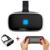 Óculos de caixa android 3d vr realidade virtual imersiva google papelão all-in-one movie game vrbox caso óculos de proteção capacete binocular