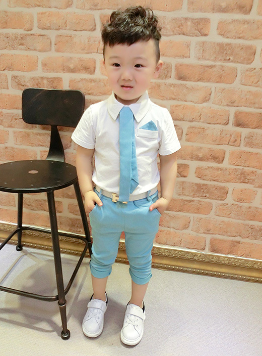 b4d2aac7fab05 2 color 2017 Children s suits baby boy suit suit dress suit shirt tie + pants  suit two sets 1 5 years old free shipping -in Clothing Sets from Mother    Kids ...