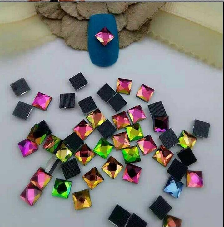 1pack(50pcs) nail rhinestones square glass Special shape shiny diamond nail sticker diamond nail decoration nail art tool 2 sets lot furniture square shape foot skid glide slide pad nail protectors 50pcs